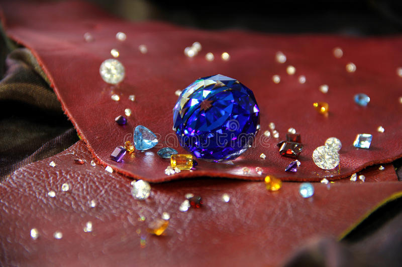The Difference of Gems. Colourfull of Gems royalty free stock photography