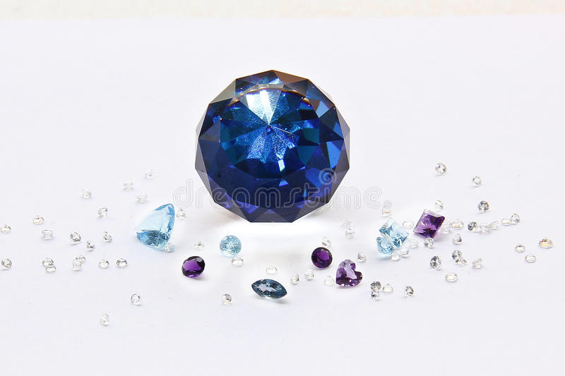 The Difference of Gems. stock photo