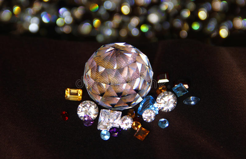 The Difference of Gems. royalty free stock image