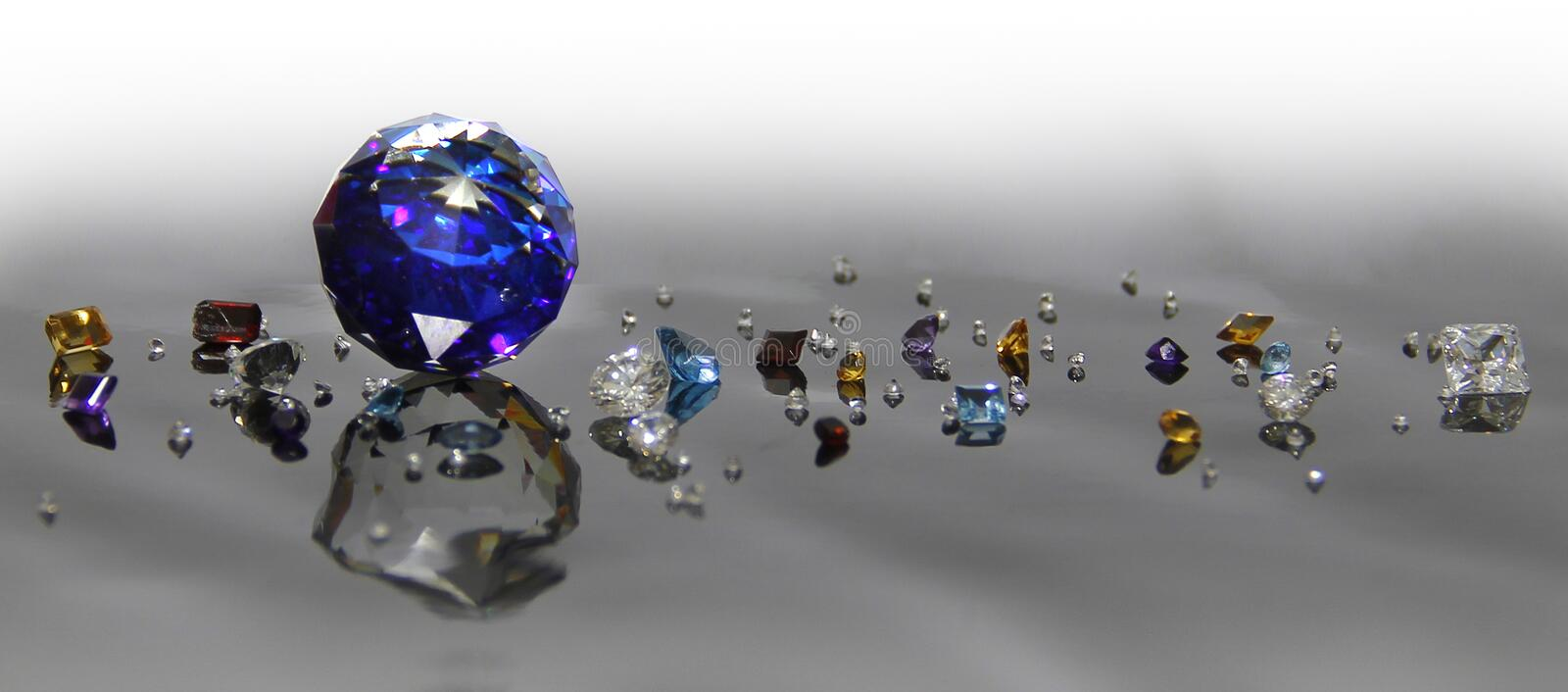The Difference of Gems. royalty free stock images