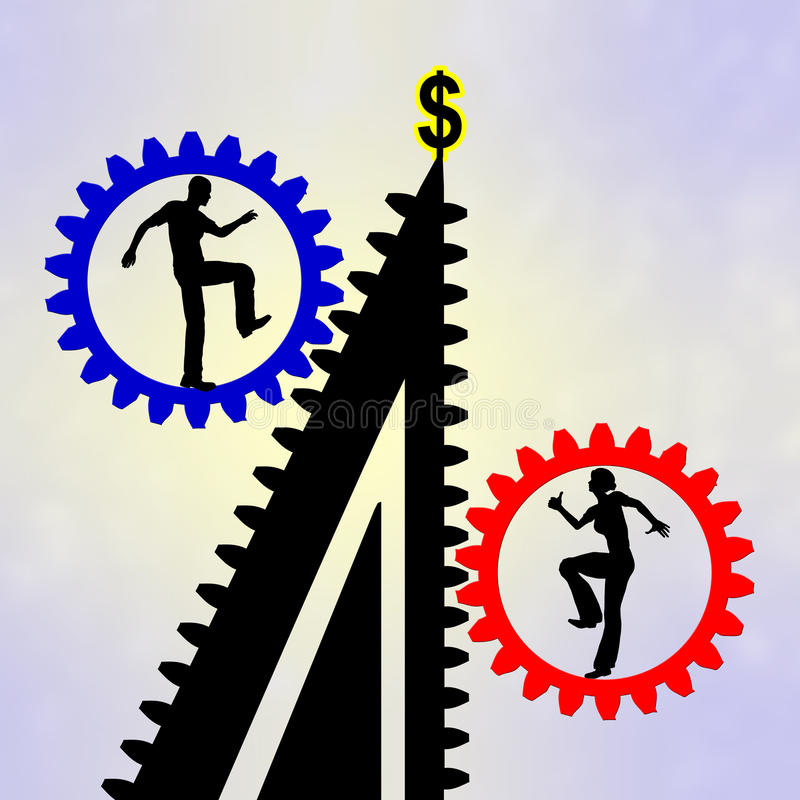 Differences in Careers stock illustration