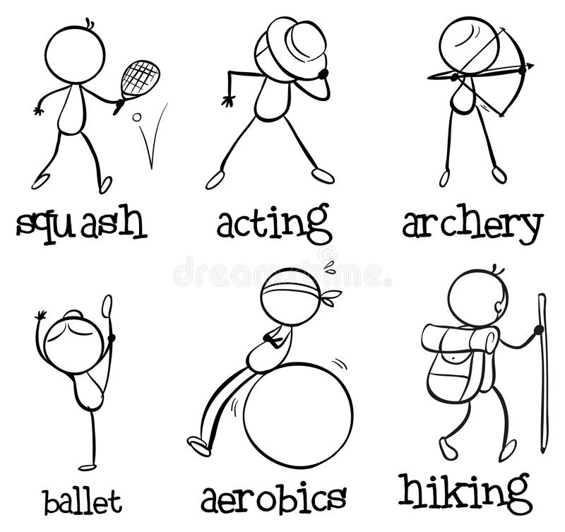Different activities vector illustration