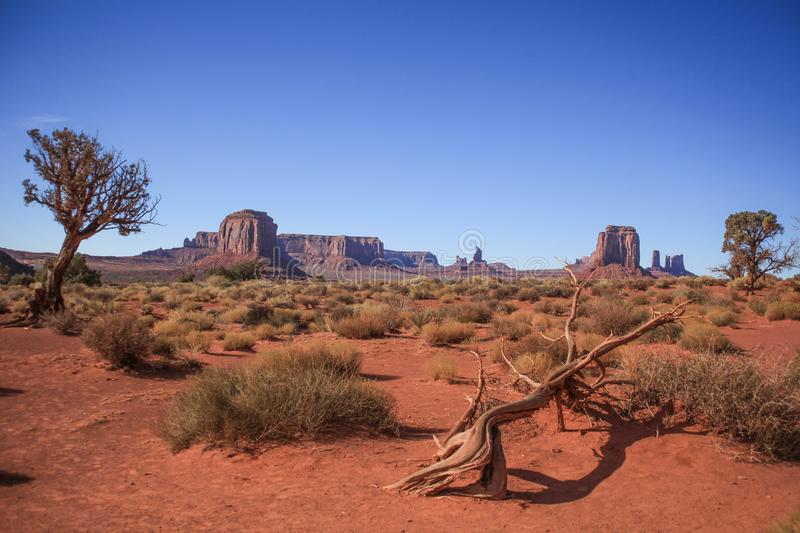Monument Valley landscape. Different angle how to see Monument Valley royalty free stock photography