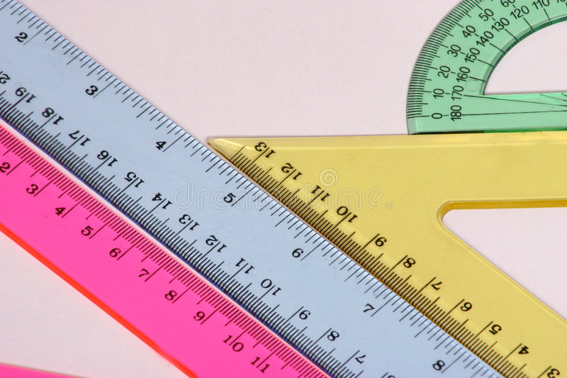 Different Angles. Measuring instruments stock photo