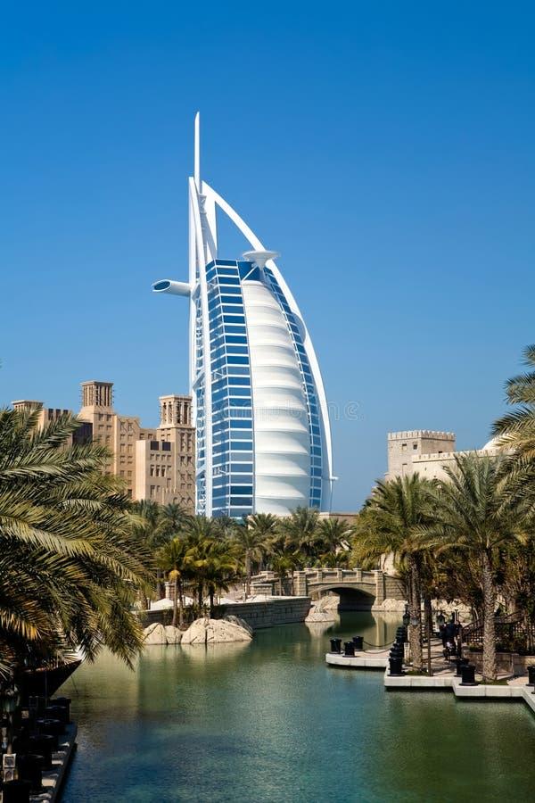 Different architecture of Dubai stock image
