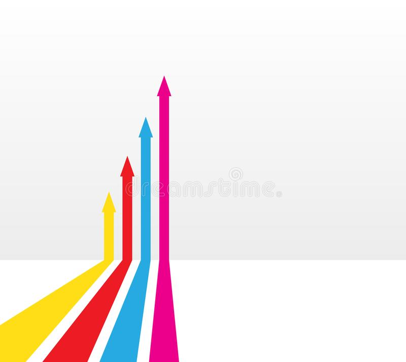 Different arrows with different colors as illustration. Vectors vector illustration