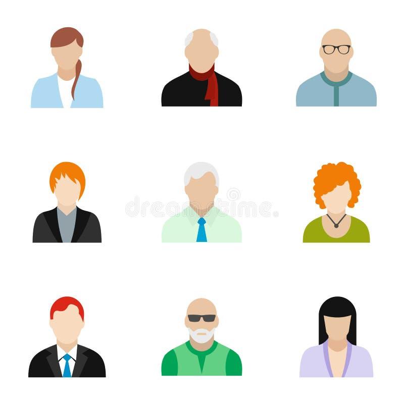 Different avatar icons set, flat style royalty free illustration