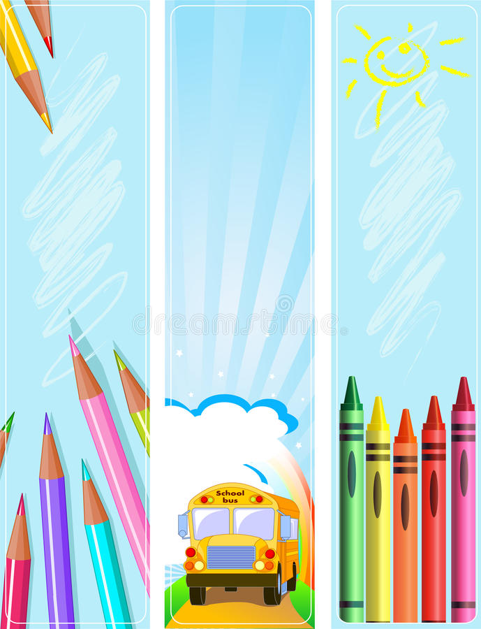 Different Back to school banners royalty free illustration