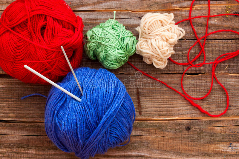 Different balls of yarn for Wataniya stock images