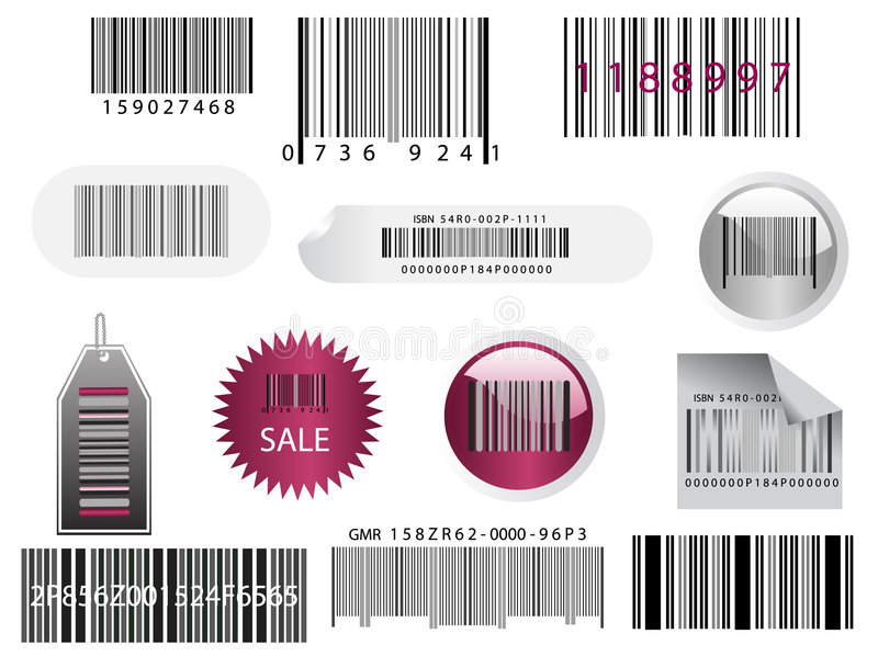 Download Different bar codes stock vector. Image of commerce, label - 8440696