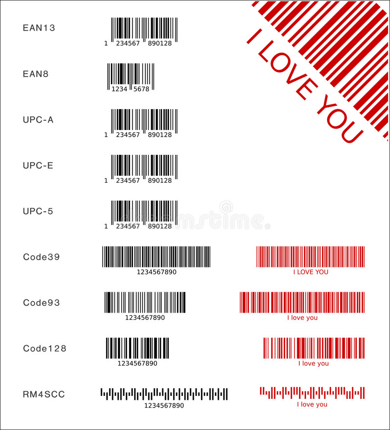 Download Different barcodes stock vector. Image of customer, code39 - 5734953