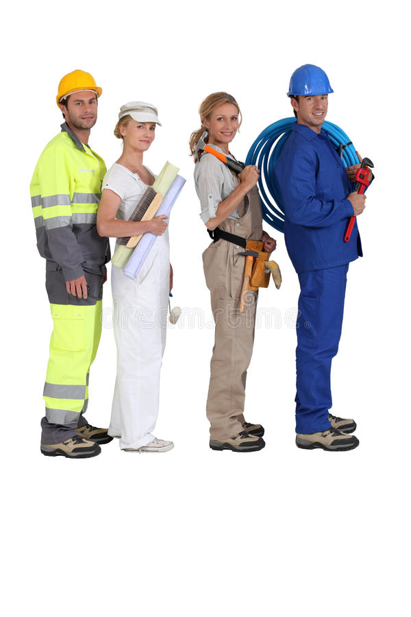 Download Different building trades stock image. Image of team - 23295183