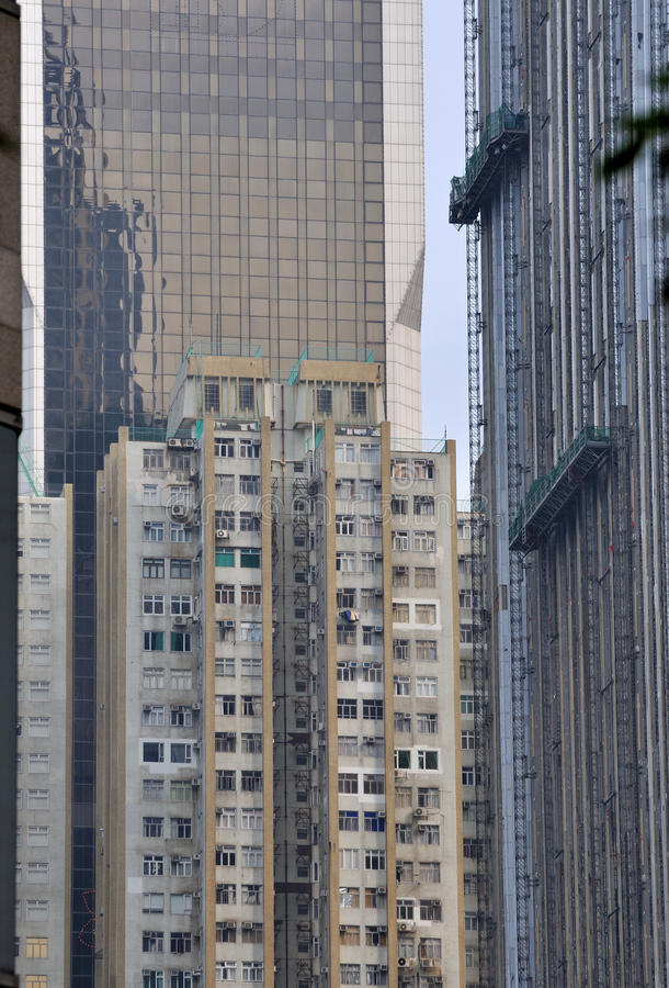 Different buildings in city