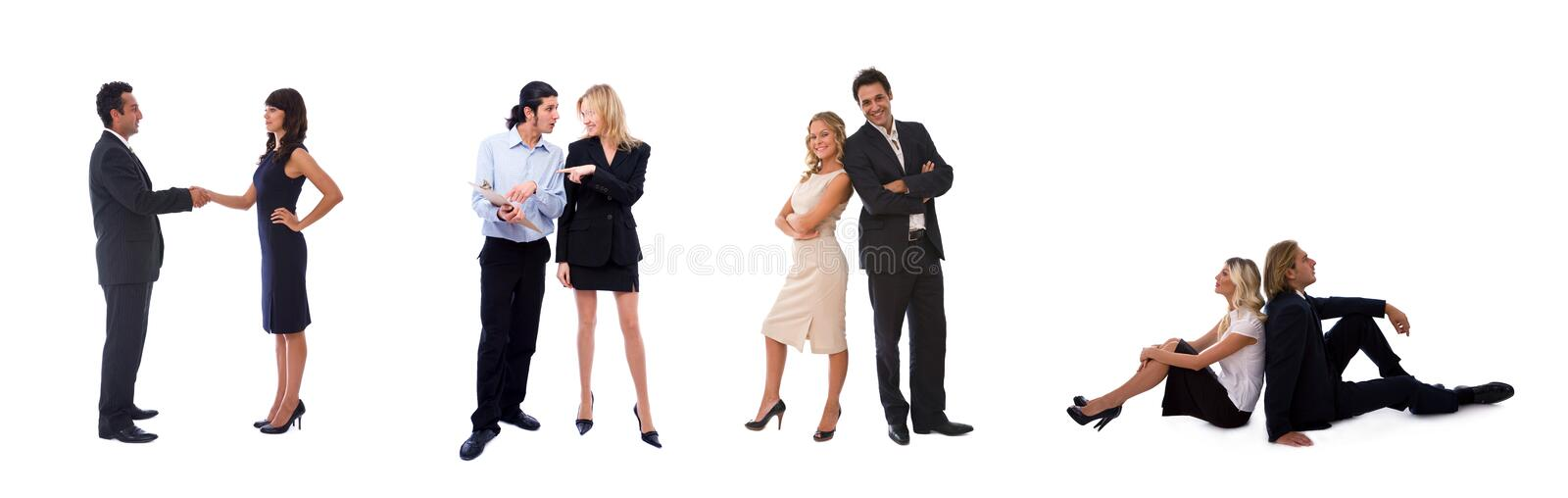 Different business teams royalty free stock photos