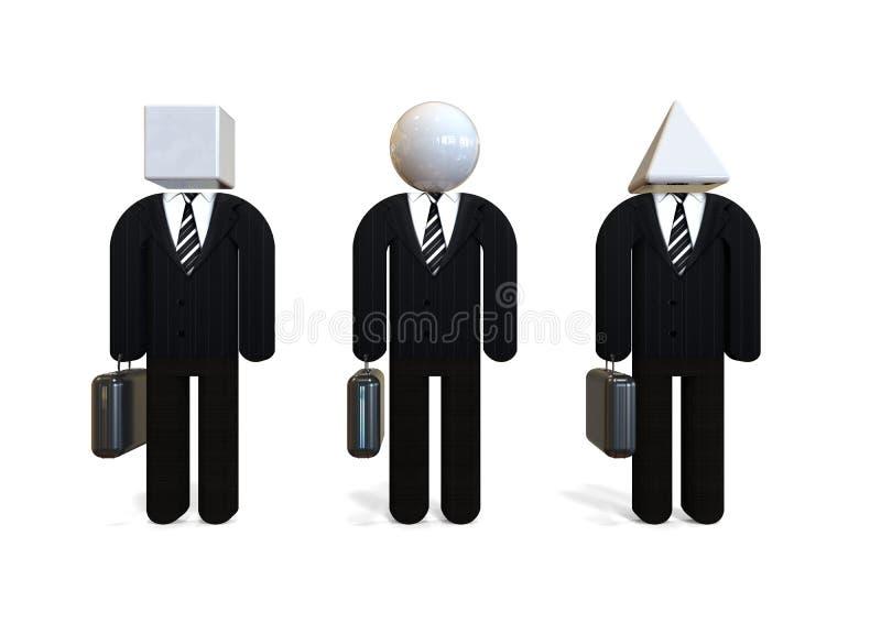 Different Businessmen concept vector illustration