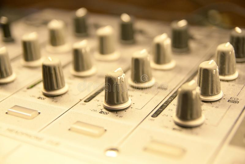 Different buttons. Control Panel. Modern equipment stock photography