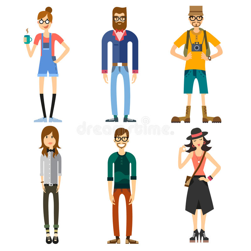 Different Characters Of People Stock Vector Illustration Of Lifestyle Character 54527328