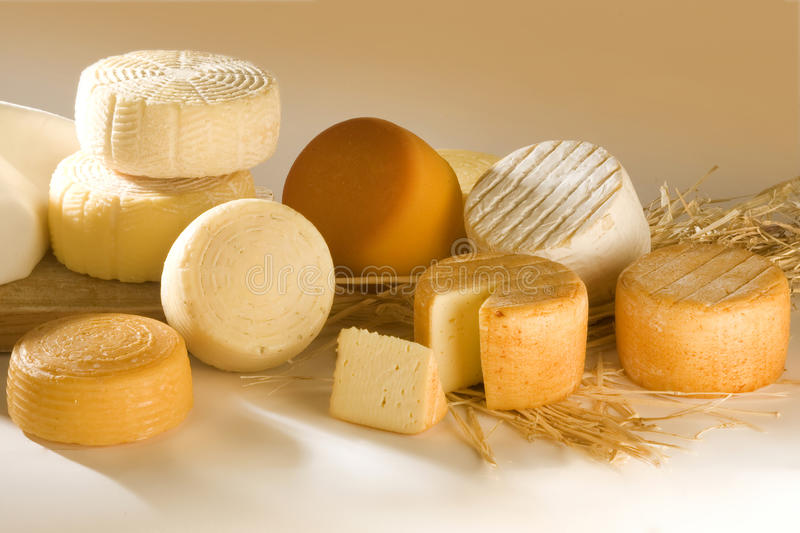 Different cheese products royalty free stock images