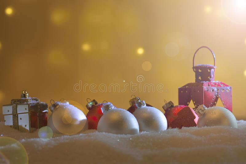 Different Christmas ornaments royalty free stock images