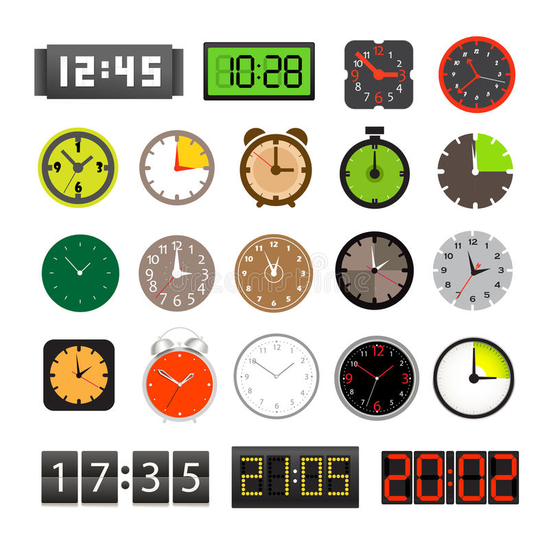 Download Different Clocks Collection Stock Illustration - Image: 26528002