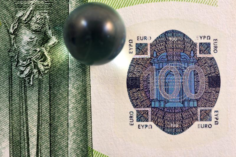 Different Close up EURO Bank note and currency.  stock photo