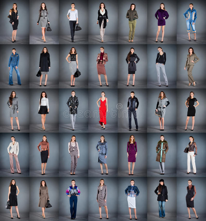 Different clothes stock photography