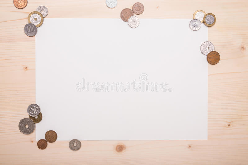 Different coins royalty free stock image