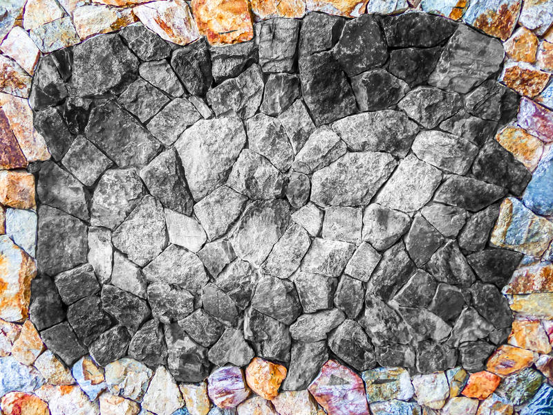 Different Color Of Granite Stone Wall Background Stock Image ...