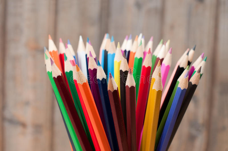 Download Different Color pencils stock photo. Image of group, collage - 26837662