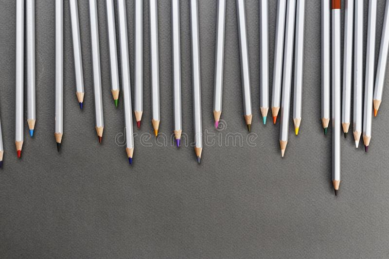 Different colored pencils royalty free stock photo