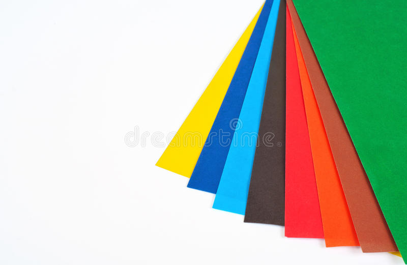 Different Colored Sheets Of Paper Stock Photo - Image of pile, copy ...
