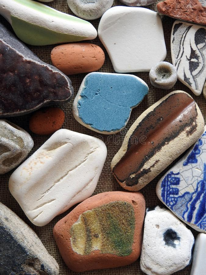 Different colors and shape sea goodies, Lithuania royalty free stock photography