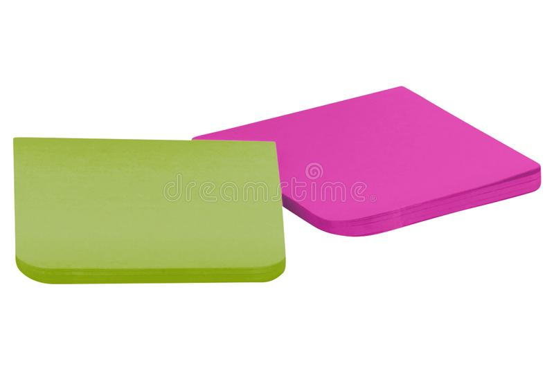 Different colors sticky notes royalty free stock photography