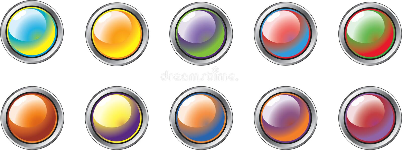 Different Colour Buttons 1 royalty free illustration