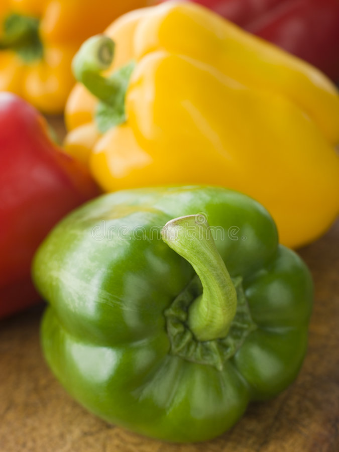 Different Coloured Peppers royalty free stock photo