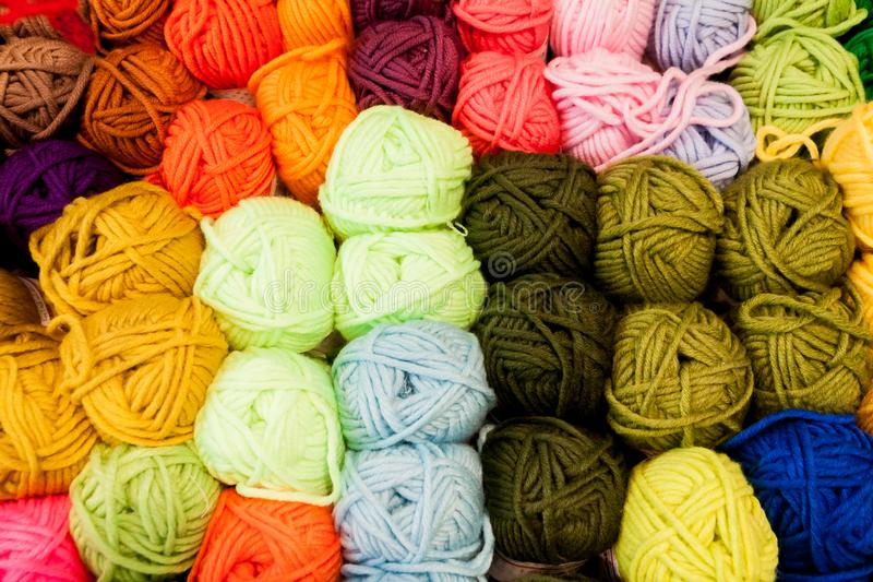 Colourful wool balls royalty free stock photo