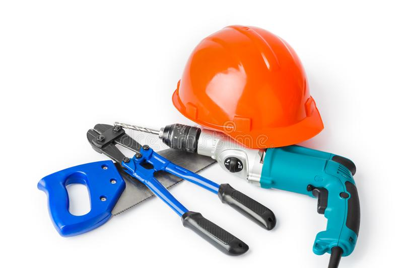 Different construction tools royalty free stock images