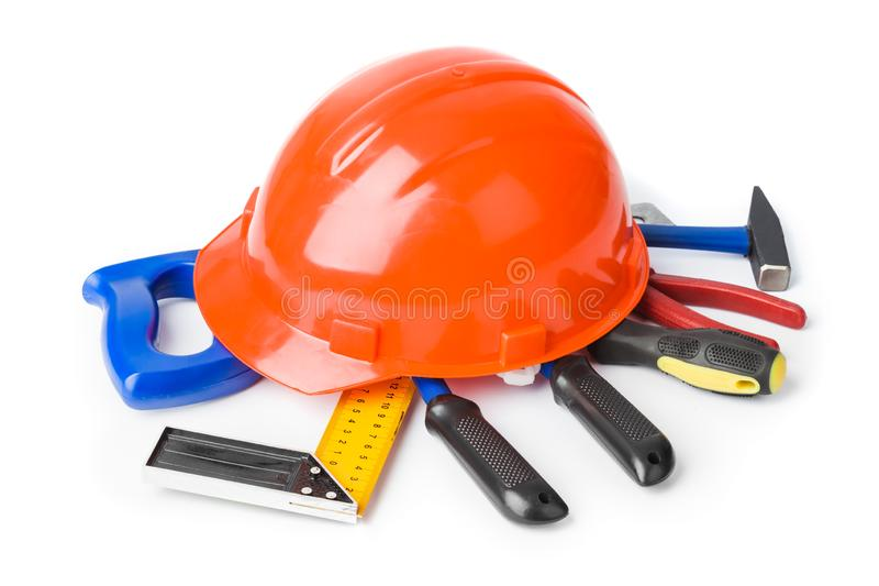 Different construction tools royalty free stock photo