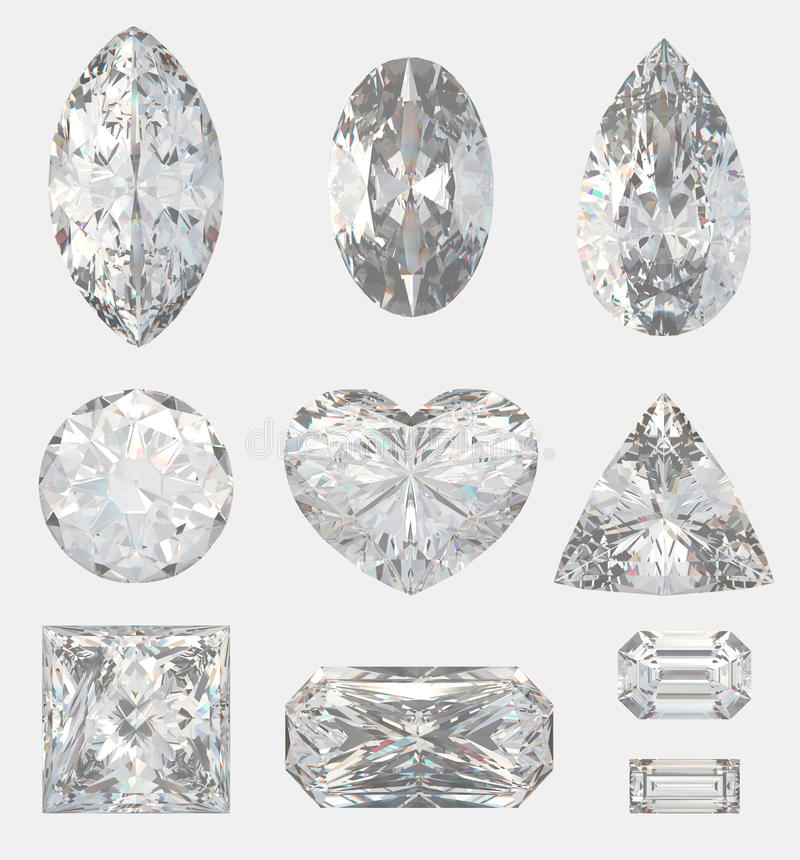 Download Different Cuts Of A Diamonds Stock Image - Image: 12442291
