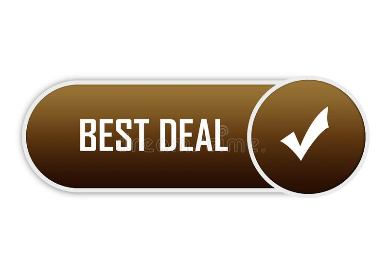 Different design best deal button element color web button. Approved web button best deal illustration Photoshop on isolated white background vector illustration