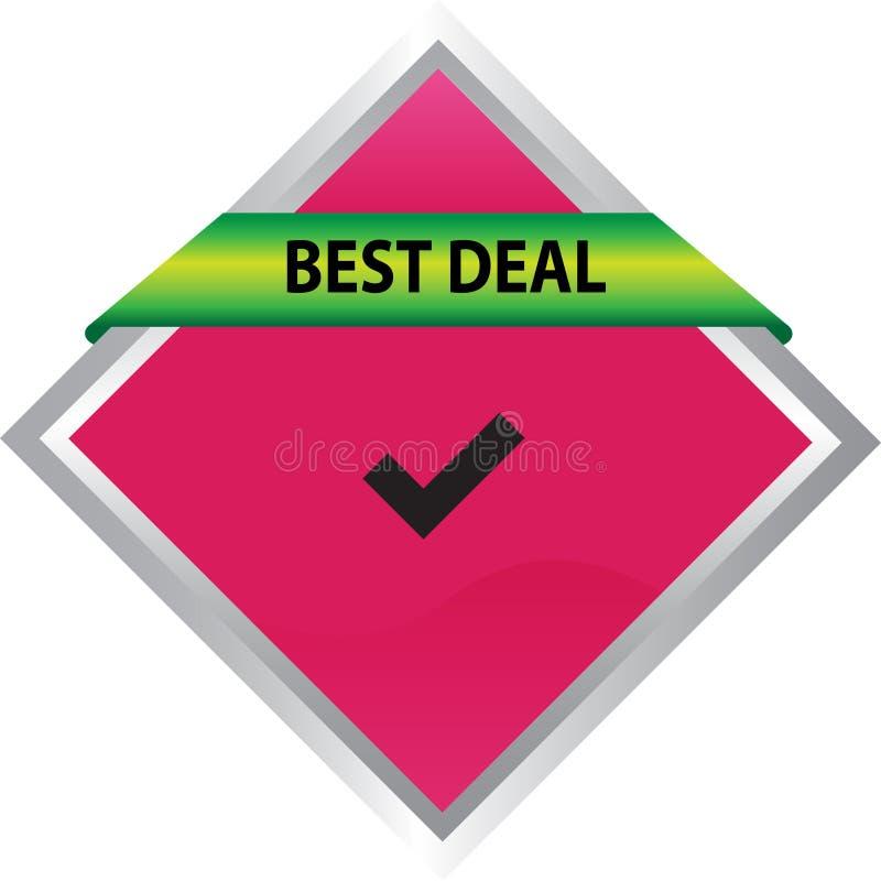 Different design best deal button element color web button. Approved web button best deal illustration Photoshop on white background stock illustration