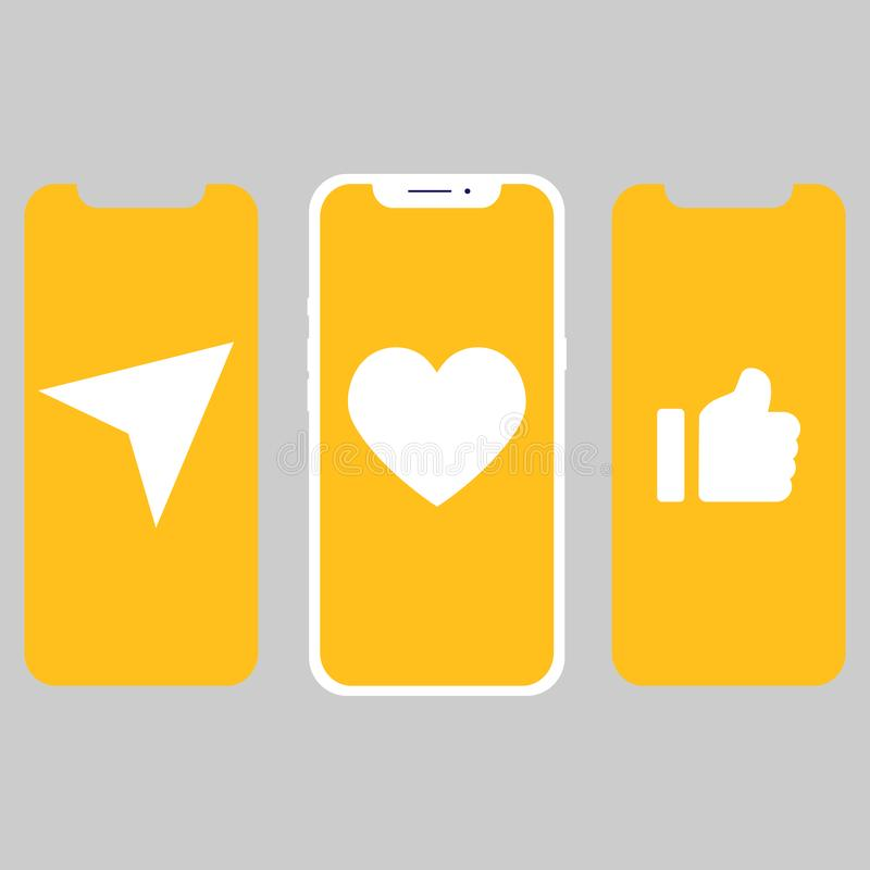 Different design UI,screens and icons for mobile vector illustration