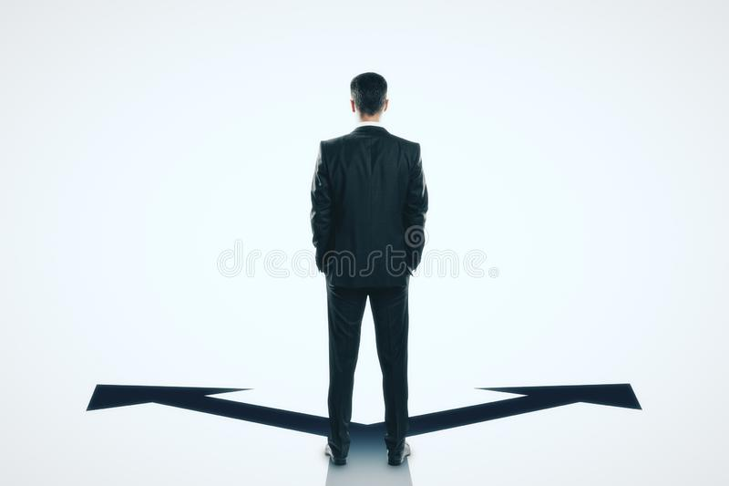 Different direction and choice concept stock image