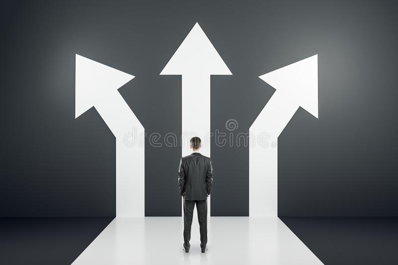 Different direction and success concept royalty free illustration