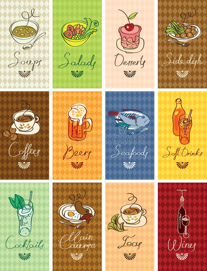 Download Different dishes stock vector. Illustration of chalk - 26554702