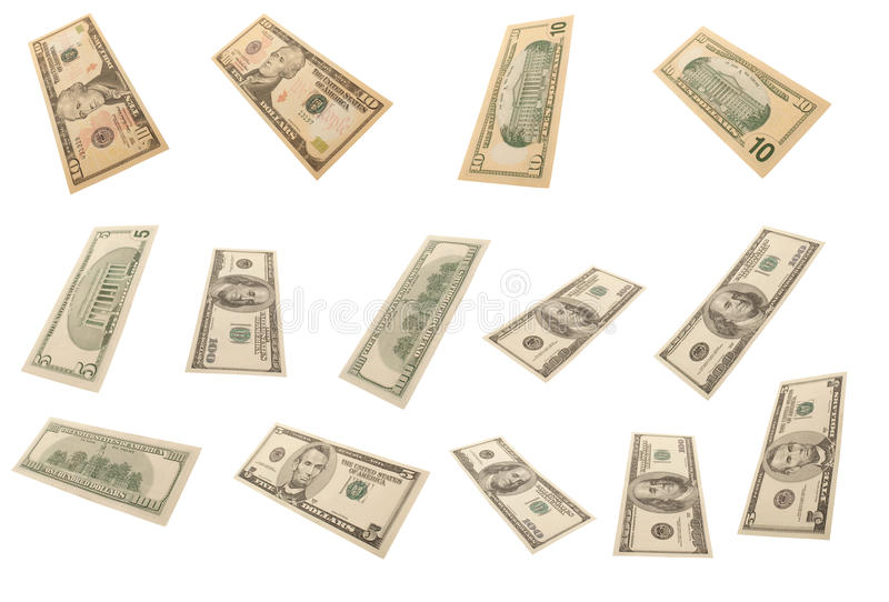 Download Different Dollar's Banknotes (isolated) Stock Image - Image: 10979555
