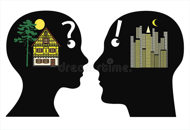 Download Different Dreams Of Where To Live Stock Illustration - Image: 31850470