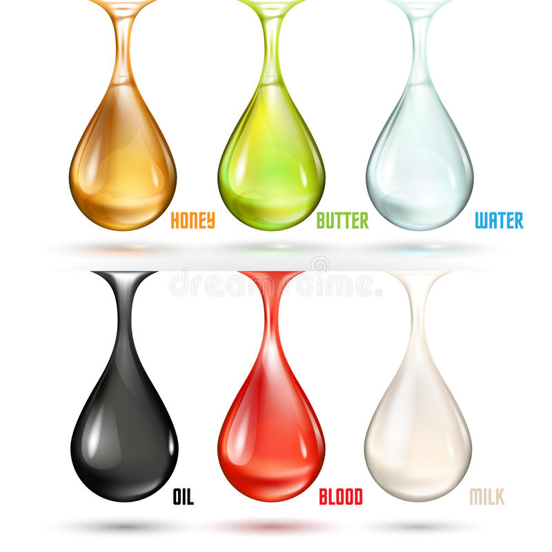 Different drops. In vector on white background vector illustration