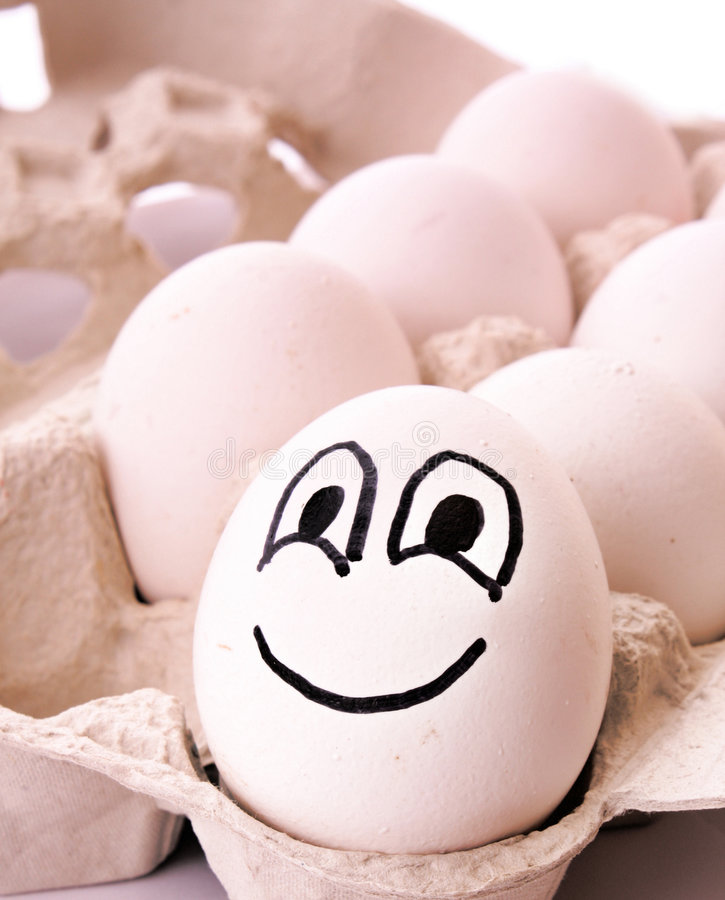 Download Different Egg With Smile Royalty Free Stock Photography - Image: 8903247