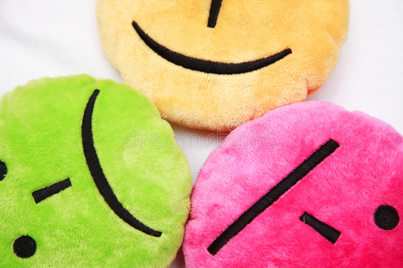 Download Different Emotions Drawn On Pillows Stock Photo - Image: 11692466